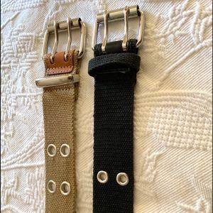 Accessories - Bundle of 2 canvas belts